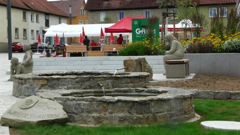 Bild 10 Dorfbrunnen mit Figuren am Rathaus